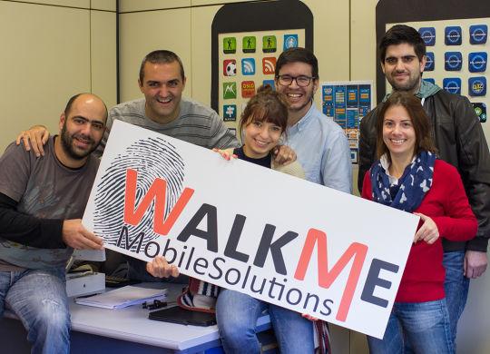 WalkMe team - Filipe, Pedro, Ligia, Roberto, Luisa, Marco