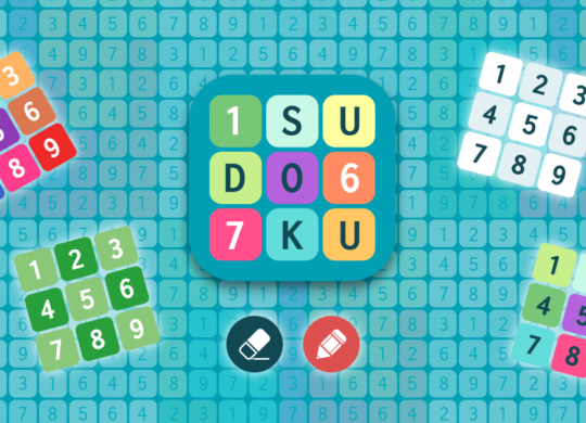 sudoku cover image. numbers from 1 to 9 all over the place